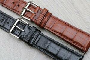 Veritable Alligator Leather Luxury Padded Watch Strap 19mm 21mm