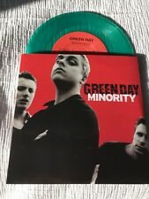 """Green Day -Minority- Green 7"""" Lp - 2000 Reprise Records-New Vinyl Never Played"""