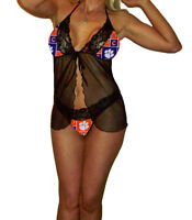 Clemson Tigers Lace Babydoll Lingerie - XS to Large - PlS READ SIZING