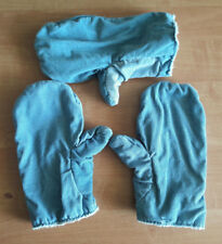 3 Arbeitshandschuhe Gr. M Cord hellblau leicht gefüttert Fausthandschuhe
