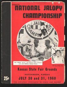 Kansas State Fair Grounds National Jalopy Championship Program 7/1960-Will Fo...