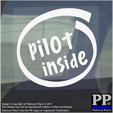 1 x Pilot Inside-Window,Car,Van,Sticker,Sign,Vehicle,Sky,Plane,Air,Craft,Travel
