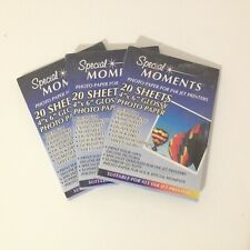 3 -Special Moments Glossy Photo Paper for Ink Jet Printers 20 Sheets 4 x 6 NEW