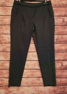 POLKA DOT Trousers Size 12 GEORGE Black/White Tailored 29L Women's VGC Work