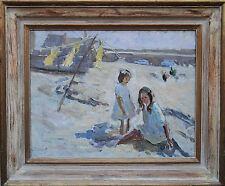 Dorotea Sharp 1874-1955 británico pintura al óleo impresionista Cornwall St Ives Arte