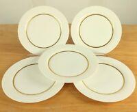 5 Kuchen Teller ∅19,7cm Rosenthal Modulation Gold Rand Band Porzellan Wirkkala