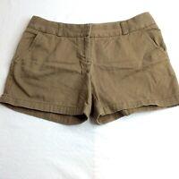 J. Crew Factory Womens City Fit Khaki Chino Shorts Size 10 100% Cotton