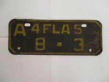 NICE 1945 Florida MOTORCYCLE  License Plate Tag LOW NUMBER