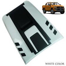 Bonnet Hood Scoop Cover V4 Black White Trim For Ford Ranger T6 Pickup 2015 - 17