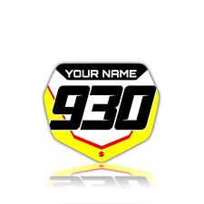 2008 - 2017 SUZUKI RMZ 450 FRONT NUMBER PLATE GRAPHIC RMZ450 FRONT NUMBER BOARD