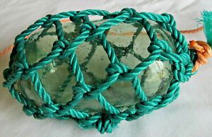 "Japanese Glass 4.5""  Sausage Roller Antique +Net"