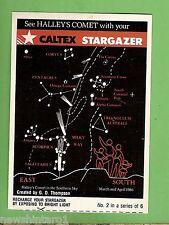 #D176.  1986  CALTEX STARGAZER HALLEY'S COMET CARD #2 of 6