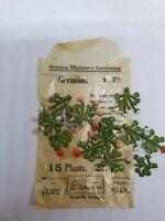 15 x Pre-war Britains 54mm cast lead #021 Geranium in original pack