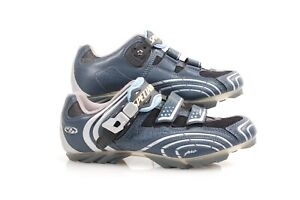 Specialized BG Blue Leather Cycling Pro Carbon Shoes UK 39.5 US W 8.75 /M 7