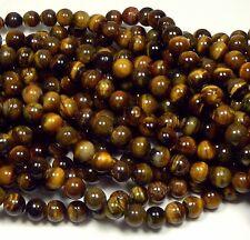 "10mm Tigereye Natural  Round Beads 40cm 15""  Stone"