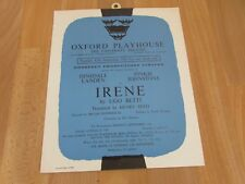 Dinsdale LANDEN & Pinkie JOHNSTONE in IRENE 1961 OXFORD Playhouse Theatre Poster