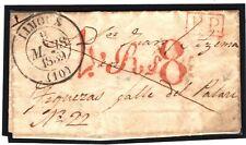 FRANCE Cover Limoux Spain Palau Fine Red Handstamp EL 1839{samwells-covers} SR12