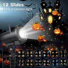 LED Laser Projektor 12 Motiv Lampe Lichteffekt Strahler Innen Außen Beleuchtung