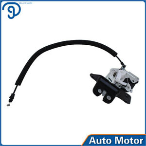Trunk Lock Actuator w/ Cable Rear For Dodge Jeep Compass Patriot  05-17