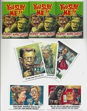 1992 IMAGINEYOU SLAY ME HORRIFIC HUMOR CARDS 3 SEALED PACKS JACK DAVIS STYLE ART