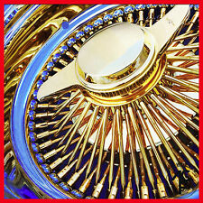 14x6  rev 100 spoke wire wheel **ALL GOLD CENTER*USA GOLD fit low rider