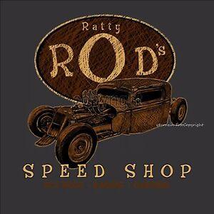T-Shirt HotRod Auto Kustom Rockabilly Tuning Garage Oldtimer Vintage *1050 bl