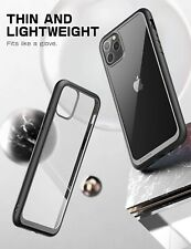 iPhone 11 Pro Case Durable Shockproof TPU Bumber Hard PC Back Clear Cover Black