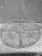 Large 12 Piece Round Acrylic Clear Appetizer Relish Serving Tray on Ice