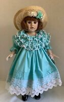 """1990 Porcelain Dolls By Pauline """"Meredith""""  18"""" Tall - Limited Edition"""