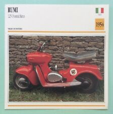 RUMI 125 FORMICHINO Scooter 1954 Moto Fiche de Collection Atlas Image Photo