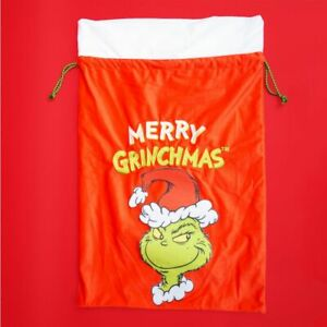 The Grinch XM8193 Merry Grinchmas Fabric Sack 72 x 47 Cm New With Tag