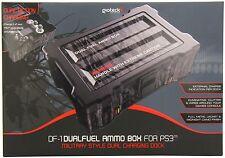 PS3 DF1 Gioteck Duel Fuel Ammo Box Ladegerät NEUWARE