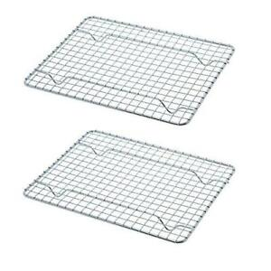2 Cooling Racks Wire Rack Pan Oven Kitchen Baking Cooking Pan Frying 8 x 10 Each