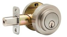 Round Contemporary Double Cylinder Grade-3 Deadbolt Satin Stainless DBR2420