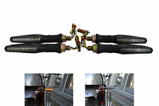 Black Slim Line LED Indicators 2 PAIRS for Motorbike Motorcycle Single Row LEDS