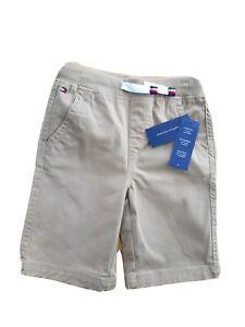 Tommy Hilfiger Boy Brown Bermuda Twill cotton shorts Size 4 5 6 7 years NWT logo