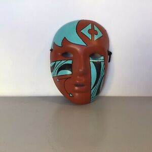 Vintage Hand Painted Ceramic Wall Art Mask 1988