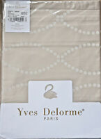 YVES DELORME * POINTS CafeCreme * FLAT SHEET  superking/ king 270 /295  NEW+PKT