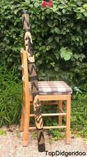 """47"""" DIDGERIDOO with a tiny crack HandCarved Animals +Bag FREE SHIPPING in USA"""