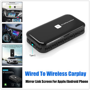 Car Wired To Wireless Carplay Dongle Smart Mirror Link Screen For Apple/Android