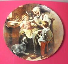 Knowles Norman Rockwell Society HERITAGE COLLECTION PLATE 1977 The Toy Maker