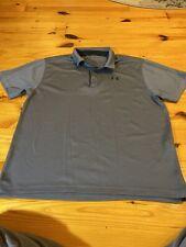 Mens Size XL Under Armour  Short Sleeve Shirt Polo Gray