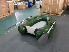 Inflatable Commercial Grade PVC Dingy Raft Fishing Platform Boat W/ Motor Board