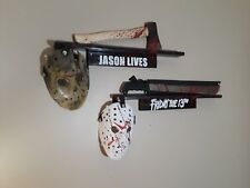 friday the 13th Jason lives Machete or axe (prop) mask and wall shelf pick 1
