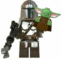 ORIGINAL STAR WARS The Mandalorian +BABY YODA CUSTOM lego  Minifigure