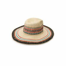 2016 NWT WOMENS VOLCOM ABOUT TOWN FEDORA $34 XS/S multi color paper straw