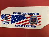 """UBC /""""UNION MILLWRIGHTS ALWAYS UNITED/"""" 2 in 1 BUMPER STICKERS Made in USA /""""NEW/"""""""