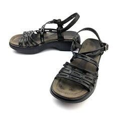 Dansko Womens Strap Strappy Comfort Sandals Black Leather Size EU 39 US 8.5-9