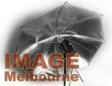 "110cm 43"" silver black umbrella reflective flash brolly"