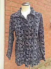 Vintage Windowpane Velour Long Sleeve Button Front Shirt